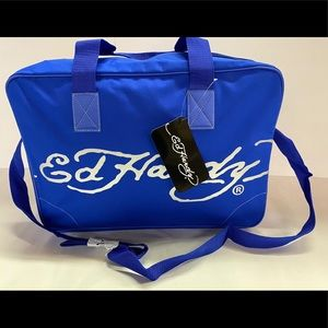 ED HARDY MENS BLUE BAG